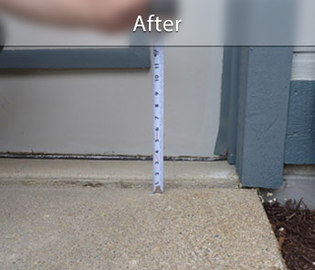 Omaha concrete walkway repair & leveling