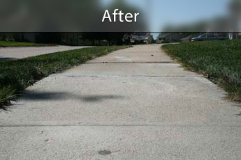 Fixing sunken concrete with PolyLevel® in Omaha