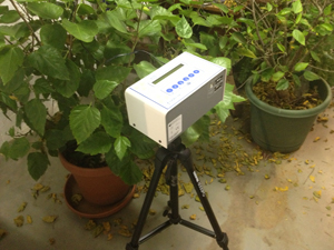 Continuous radon monitor in Omaha home