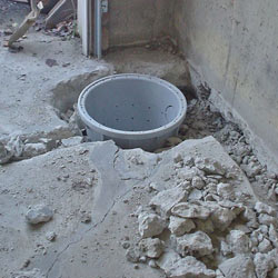Placing a sump pit in a Maryville home