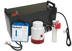 a battery backup sump pump system in Hastings