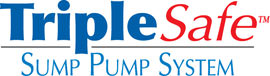 Sump pump system logo for our TripleSafe™, available in areas like Denison