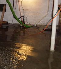 Several feet of floodwaters in a Atlantic basement