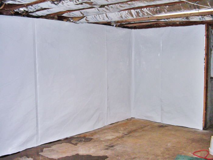 unfinished basement wall covering.  basement wall vapor barrier in Atlantic Cleanspace Basement Wall Vapor Barrier System Nebraska Iowa