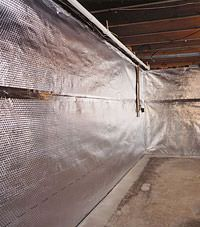 Radiant heat barrier and vapor barrier for finished basement walls in North Platte, Nebraska, Iowa, and Missouri